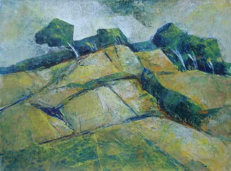 Felsenküste, Acryl